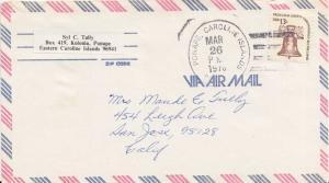 Caroline Islands 13c Americana 1976 Ponape, Caroline Islands 96941 Airmail to...