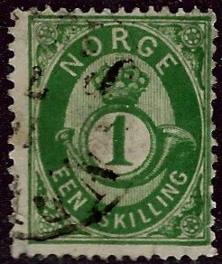 Norway #16 Used Fine SCV$20...Chance to buy a Bargain!