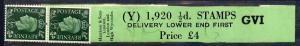 Great Britain 1937-47 KG6 1/2d green coil leader (vert de...