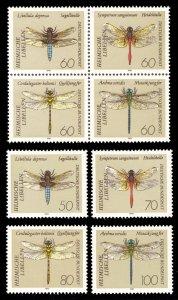 Germany 1991 Scott #1670-1677 Mint Never Hinged