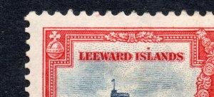 Leeward Islands 1935 Silver Jubilee 1d dot above L unlisted ERROR, FLAW mint