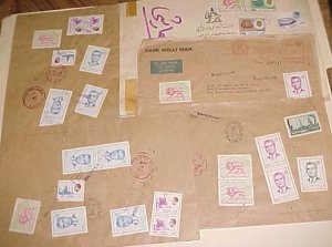 IRAN  5 REGISTERED LARGE COVERS 1970'S TO USA