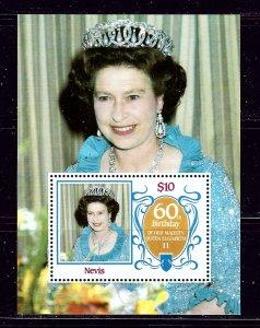 Nevis 476 MNH 1986 QEII 60th Birthday S/S