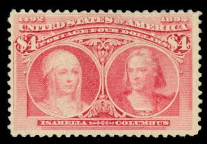 MOMEN: US STAMPS #244 MINT OG LH