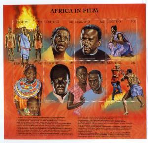 LESOTHO 1150 MNH S/S SCV $7.50 BIN $4.50 AFRICA IN FILM