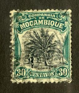 MOZAMBIQUE COMPANY 134 USED SCV $0.80 BIN $0.35 TREE