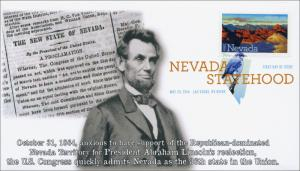 SC 4907, 2014 Nevada Statehood,Abraham Lincoln, DCP, FDC, Item 14-094