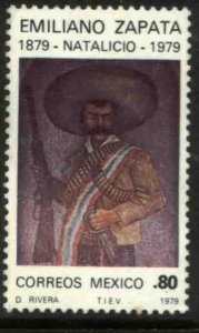 MEXICO 1185, BIRTH CENTENNIAL OF EMILIANO ZAPATA, REVOLUTIONARY LEADER. MNH VF.