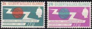 Gilbert and Ellice 87-88 MNH (1965)