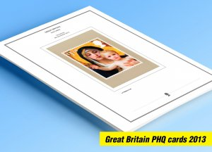 COLOR PRINTED GREAT BRITAIN 2013 PHQ CARDS STAMP ALBUM PAGES (117 illust. pages)