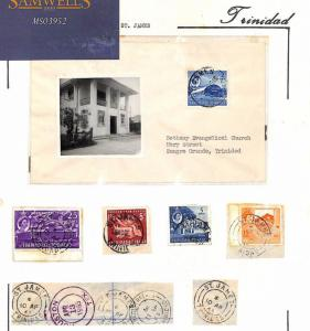 MS3652 1963 TRINIDAD *St James* Postmarks & Cover FINE ALBUM PAGE