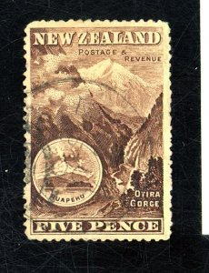 NEW ZEALAND 77 NO WATERMARK USED FVF TINY CREASES Cat $225