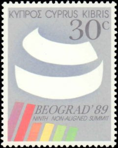 Cyprus #727-728, Complete Set(2), 1989, Never Hinged