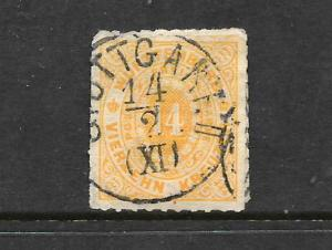 WURTTEMBERG  1869-73   14K    ORANGE YELLOW    FU     SG 82