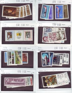 Z644 JL stamps germany DDR mnh with sets on sales cards, been checked & sound