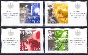 Germany. 1999. 2051-54. 50 years of Germany. MNH.