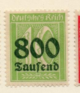 Germany 1923 Early Issue Fine Mint Hinged 800T. Surcharged 120385