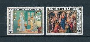 [104716] Gabon 1975 Christmas Weihnachten art paintings Denis Lippi  MNH