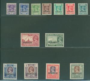 Burma O15-O27 Mint VF LH