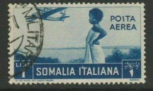 Somalia Aerea 1936 1L Usato Italia Colonie Italy Colony A18P14F190