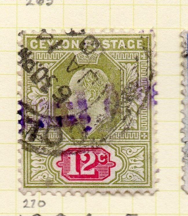 Ceylon 1903-05 Early Issue Fine Used 12c. 263404