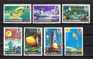 Aden-Quaiti, Mi cat. 115-121 A. Lunar Space Program issue. Canceled. C.T.O. *