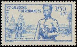 New Caledonia #B10-B12, Complete Set(3), 1941, Hinged