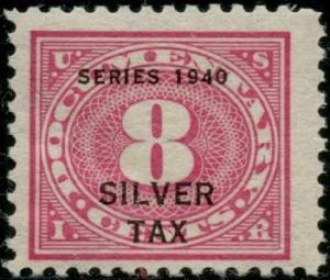 #RG42 VF OG NH 8¢ 1940 SILVER TAX BP9731