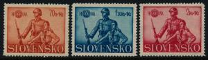 Slovakia B8-10 MNH Soldier & Hlinka Youth