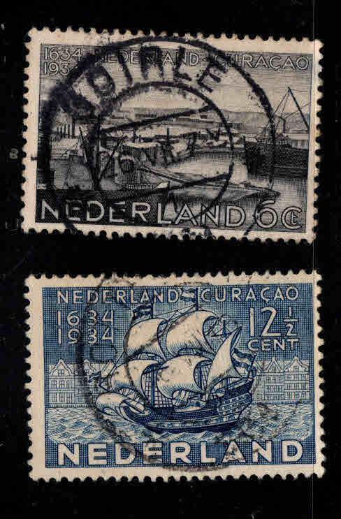 Netherlands Scott 202-203 Used Curacaol stamp set
