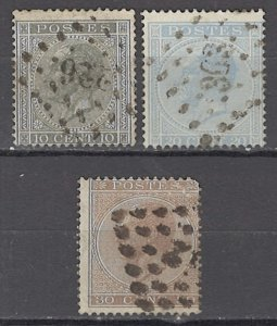 COLLECTION LOT OF #1090 BELGIUM 3 STAMPS 1867