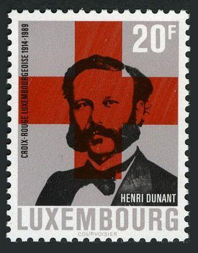 Luxembourg 800,MNH.Michel 1216. National Red Cross, 75th Ann.1989.Henri Dunant.