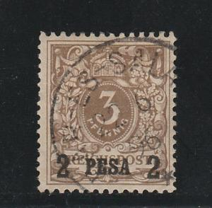 GERMAN EAST AFRICA 1893 2 PESA ON 3PF