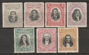 Ecuador 1899 Sc 137-43 partial set MH*