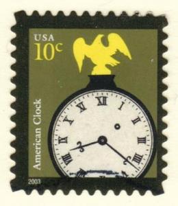 US #3757 American Clock, used (0.25)