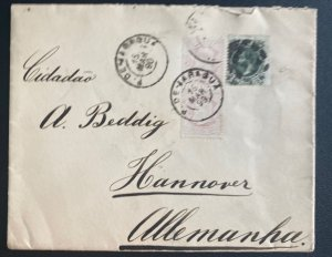 1890 Varagua Brazil Cover To Hannover Germany
