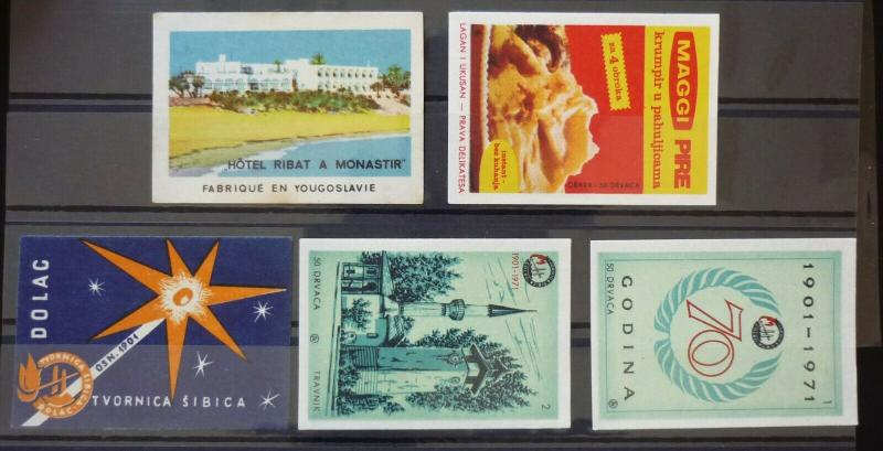 Yugoslavia Match Box Labels ! hotel aniversary N12
