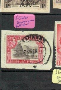 ADEN  (PP1106BB) KGVI  3 A    SG 22  PIECE  KAMARAN CDS   VFU