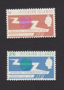 Pitcairn Islands 52 - 53 VF MLH Set of 2 ITU Issue