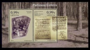 Lithuania Sc# 1146 MNH Partisan Fighters (S/S)