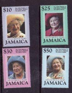 Jamaica-Sc#926-9-Unused NH set-Queen Mother-100th Birthday-2000-