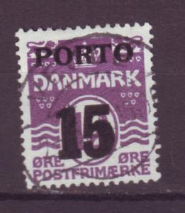 J16626 JLstamp 1934 denmark used #j38 ovpt postage due