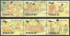 Tokelau 174a & 177a MNH -  Men's Handicrafts