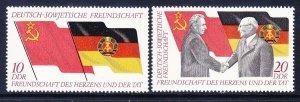 Germany DDR 1374-75 MNH 1972 German-Soviet Friendship 25th Anniversary Set