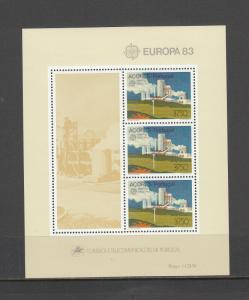 PORTUGAL-AZORES 336a SOUVENIR SHEET MNH 2014 SCOTT CATALOGUE VALUE $10.00