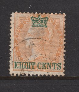 Straits Sett. an used old 8c under crown overprint on an India 2c