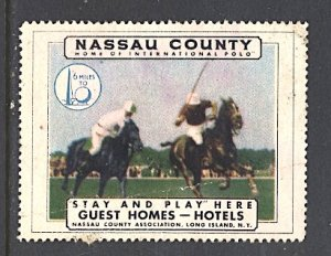 USA New York World's Fair 1939/40 Nassau County Long Island Tourism Polo Horses
