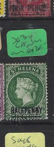 ST HELENA  (P0705BB)  QV  1/-   SG 34 CA OVER CROWN     MOG