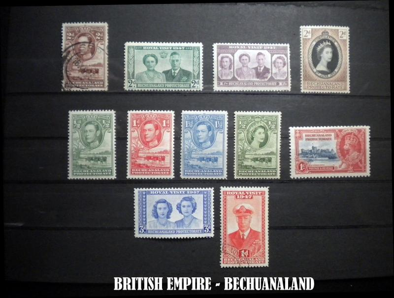 BECHUANALAND BRITISH EMPIRE STAMP COLLECTION. GOOD GRADE