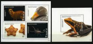 St Kitts 2017 wild fauna frogs birds deer national geographic klb+s/s MNH